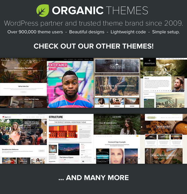 Organic Themes trusted WordPress Theme Partner