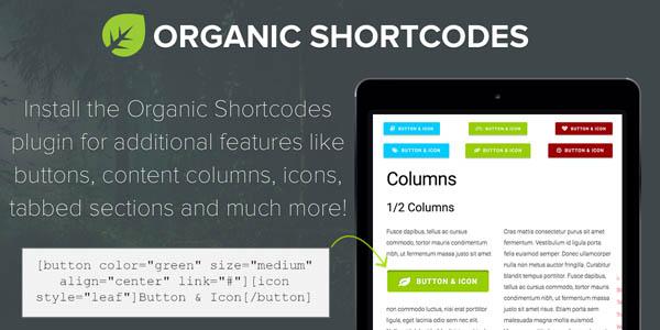 Organic Shortcodes