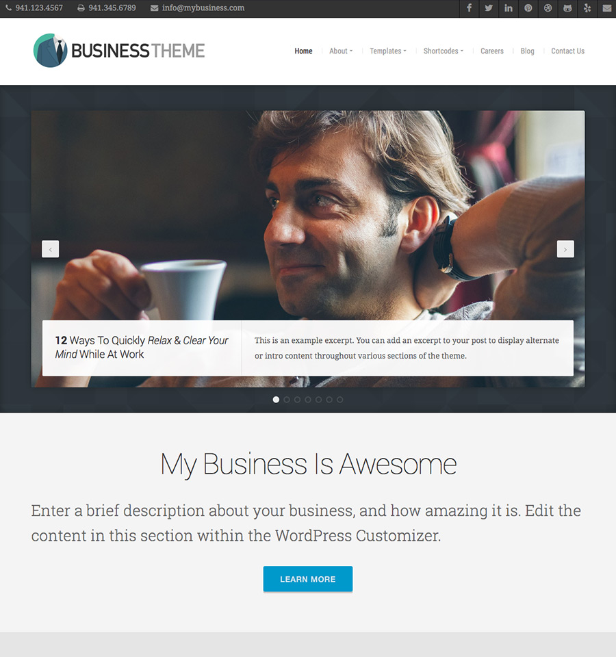 Business theme beautiful responsive wordpress themes organic themes cheaphphosting Image collections