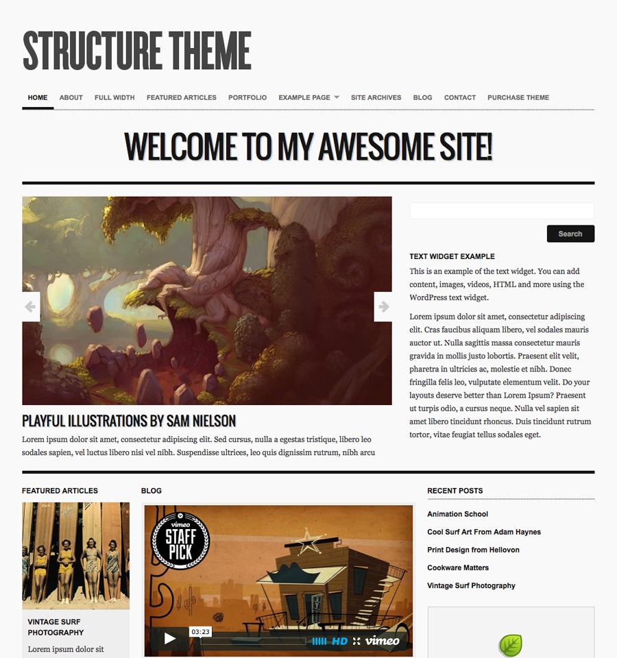 structure-wordpress-theme