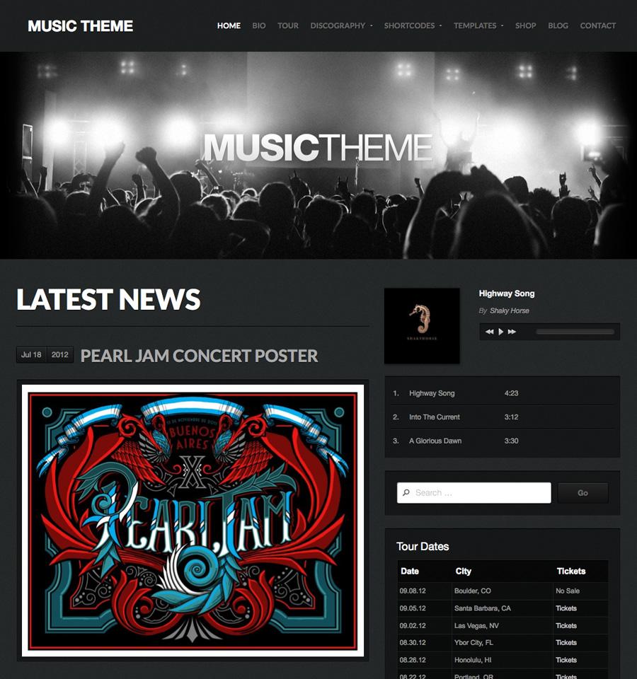 Music Theme - Beautiful, Responsive WordPress Themes - Organic Themes