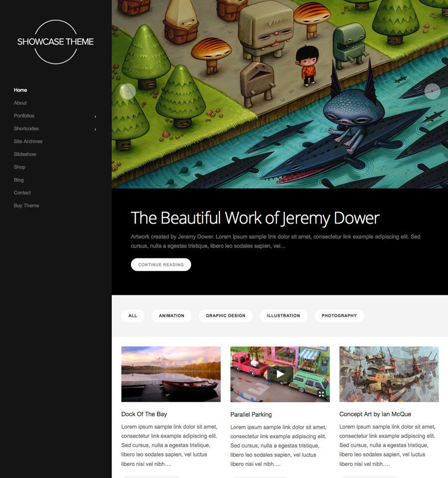 Showcase Theme Beautiful Responsive Wordpress Themes