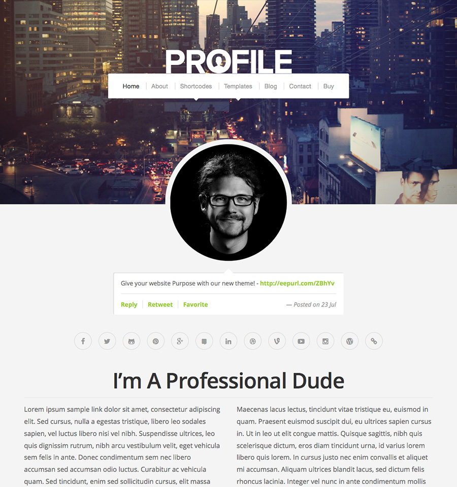 profile-v2-wordpress-theme