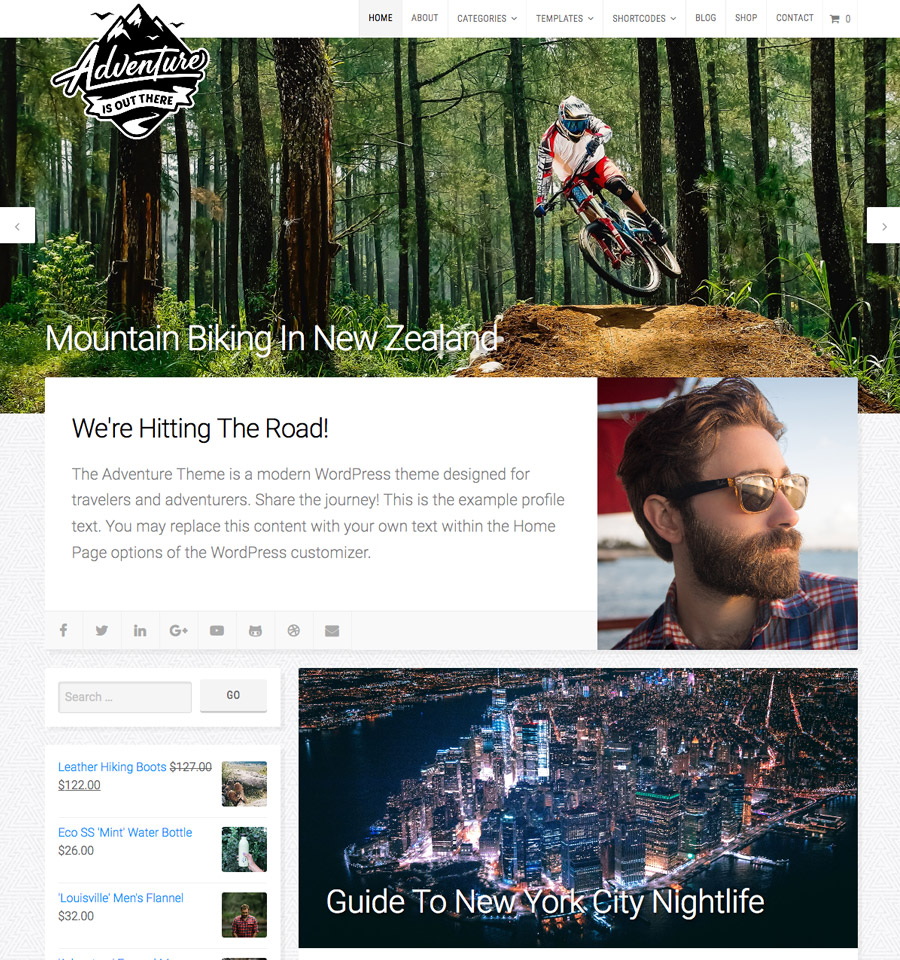 WordPress Adventure Theme