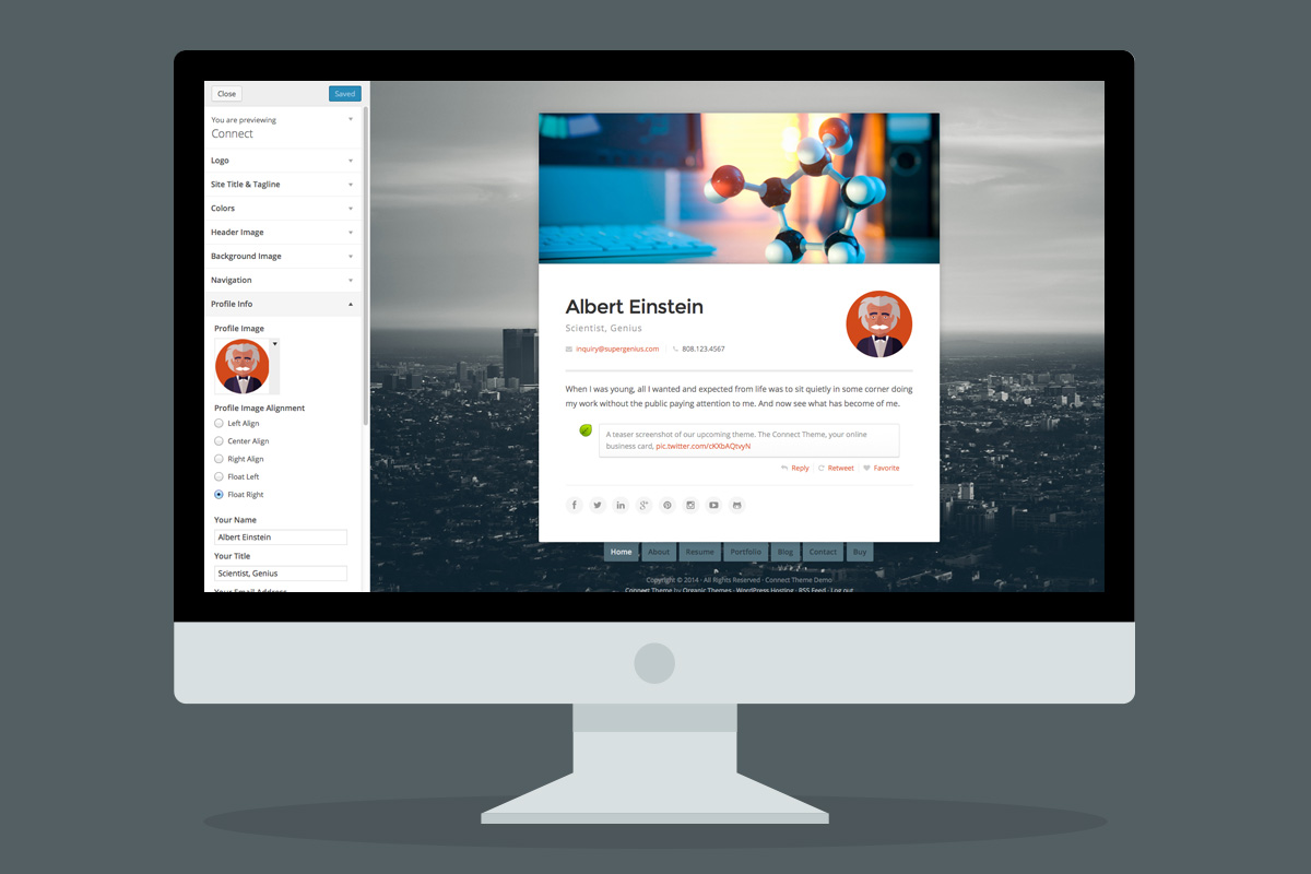 Use the customizer to change your theme quickly!