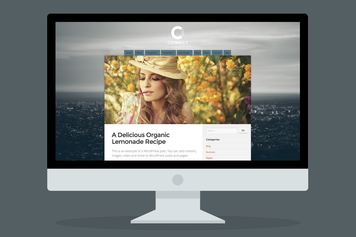 Posts and Pages display gorgeously with Featured Images!
