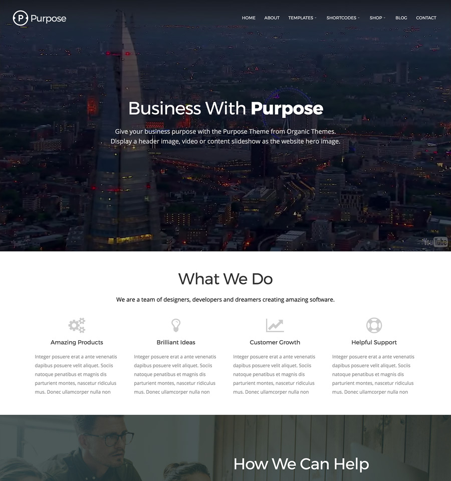 WordPress Purpose Theme