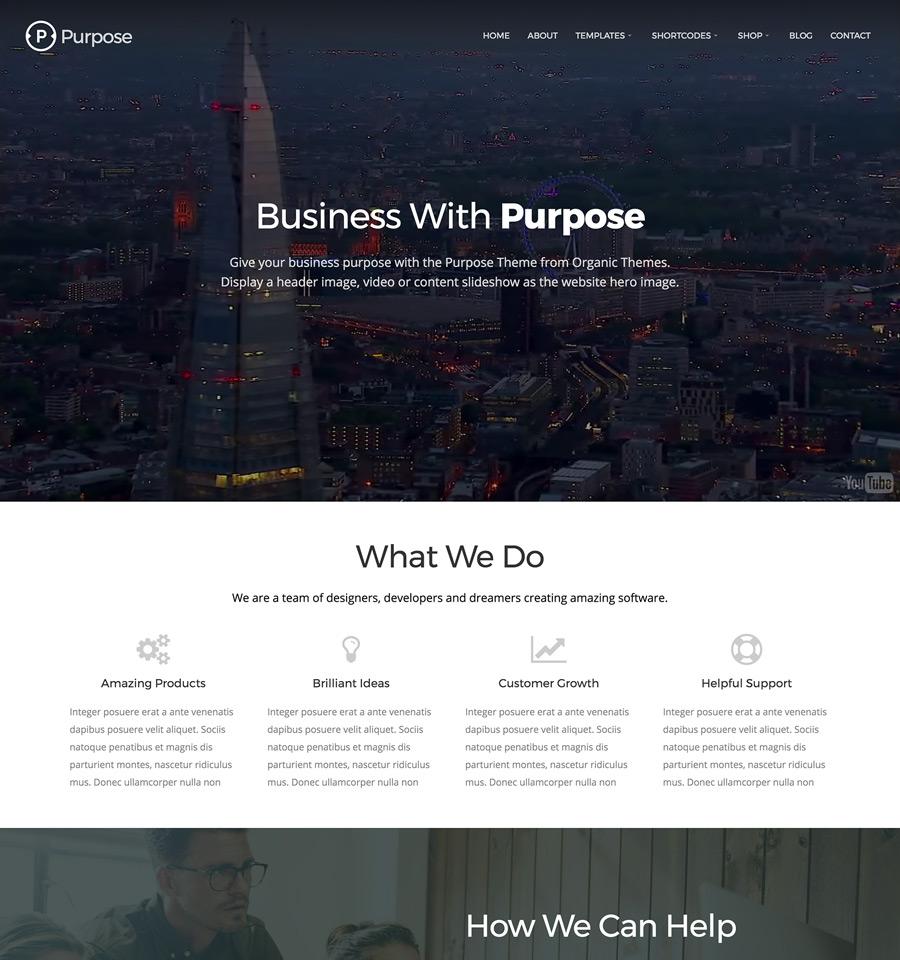 WordPress Purpose Theme