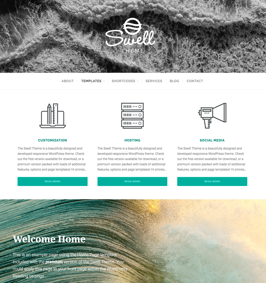 WordPress Swell Theme