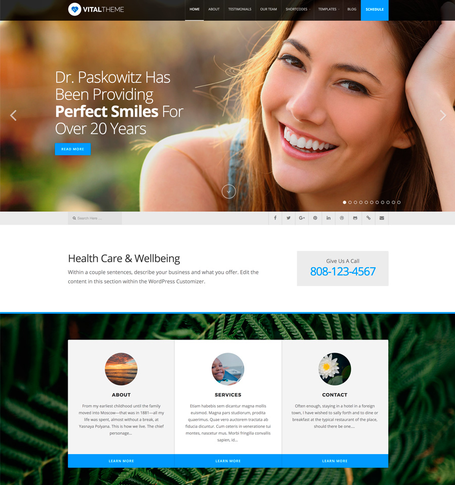 WordPress Vital Theme