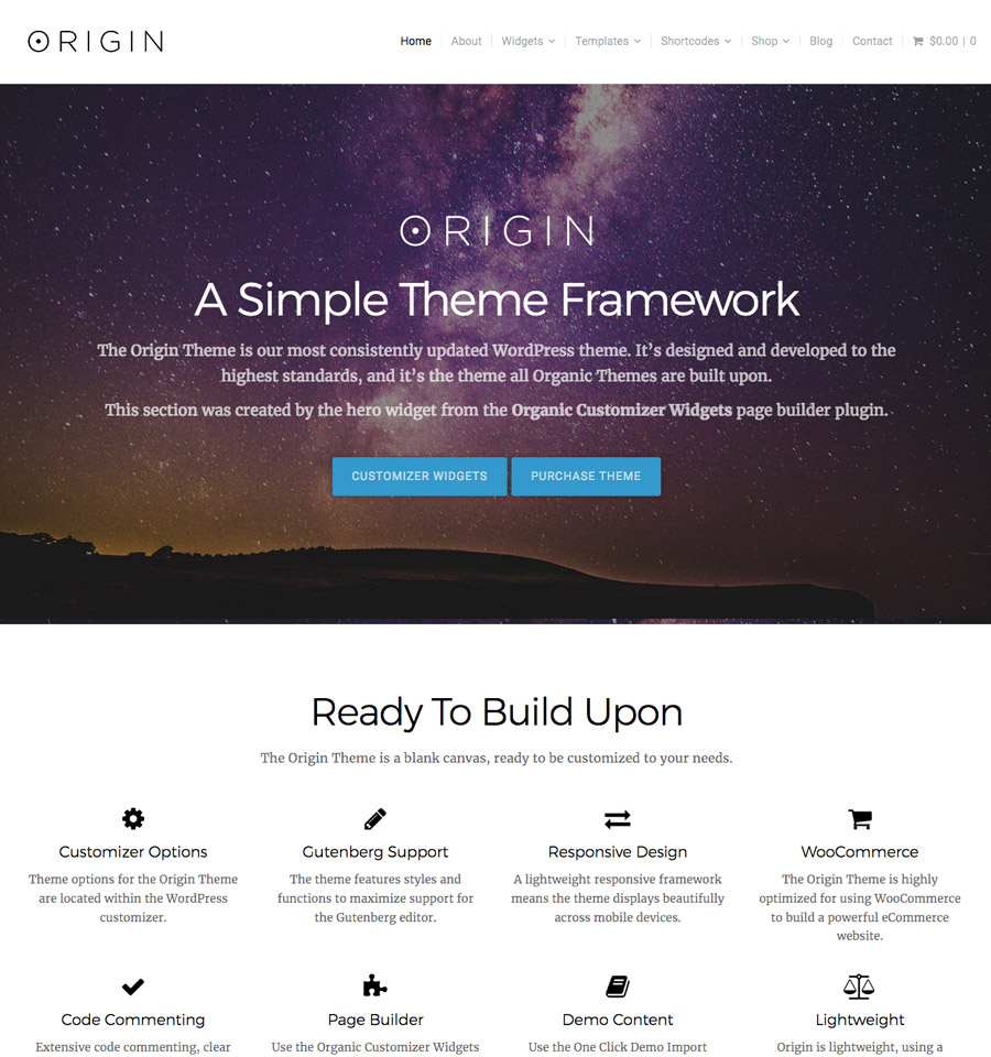 WordPress Origin Theme