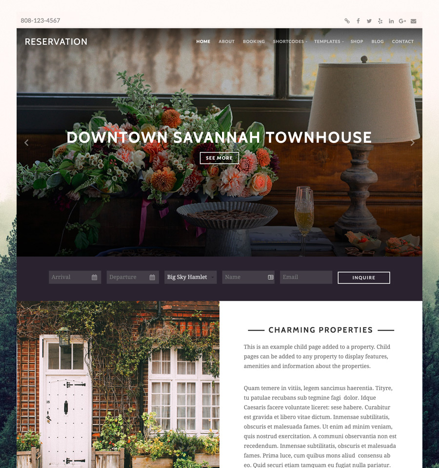 WordPress Reservation Theme