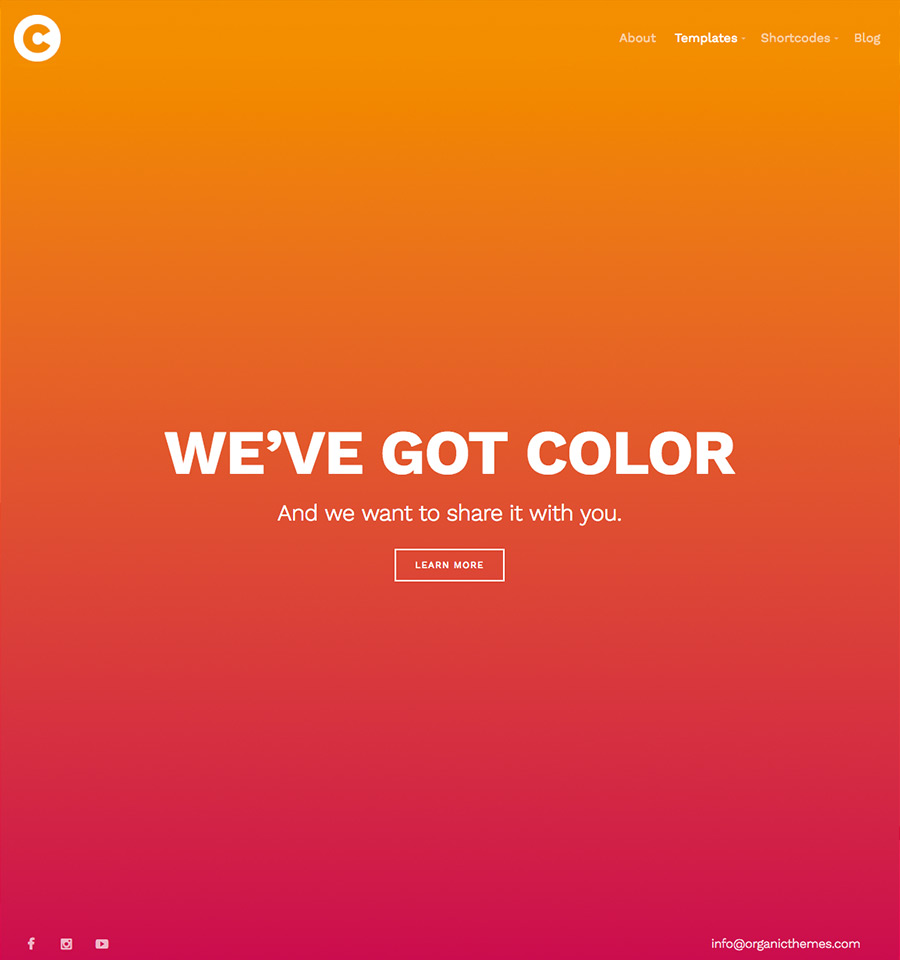 color theme a colorful wordpress theme with total color control