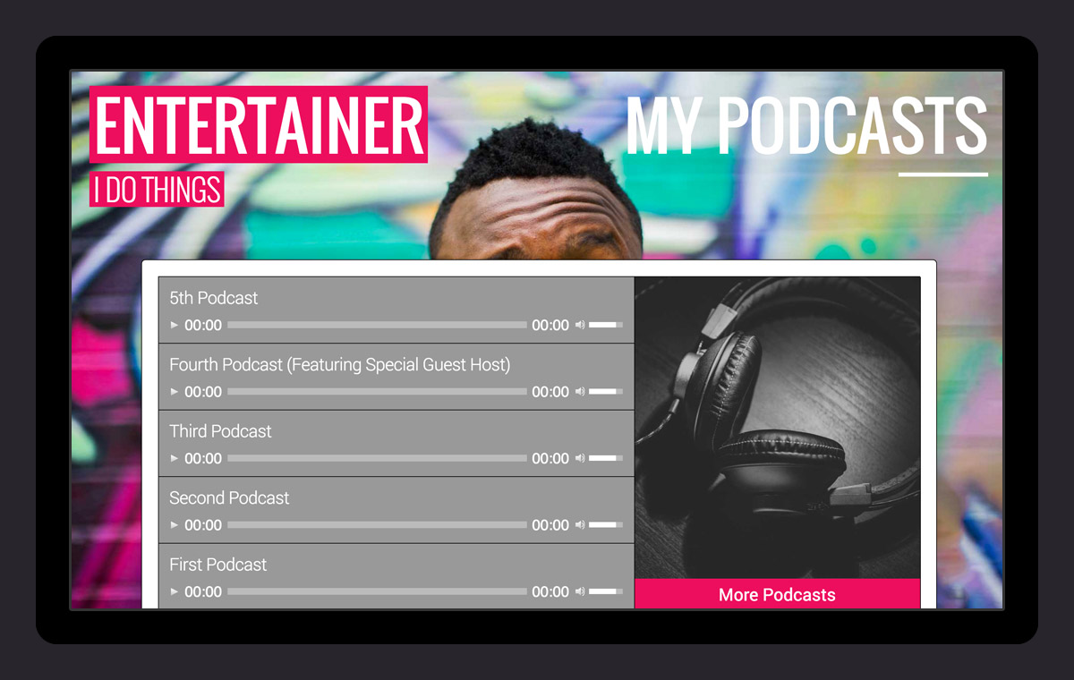 Display your Podcasts or audio files!