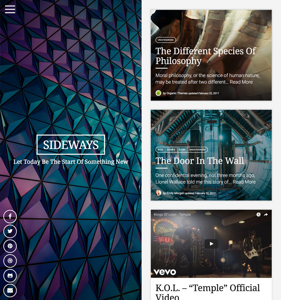 WordPress Sideways Theme
