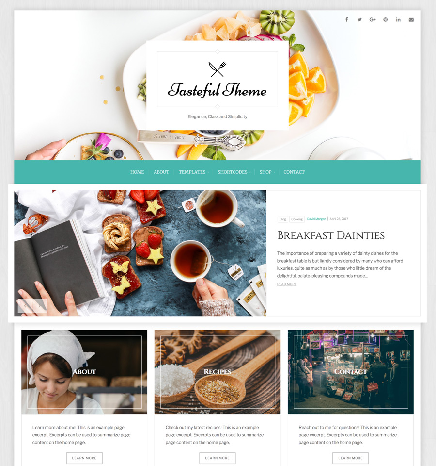 WordPress Tasteful Theme