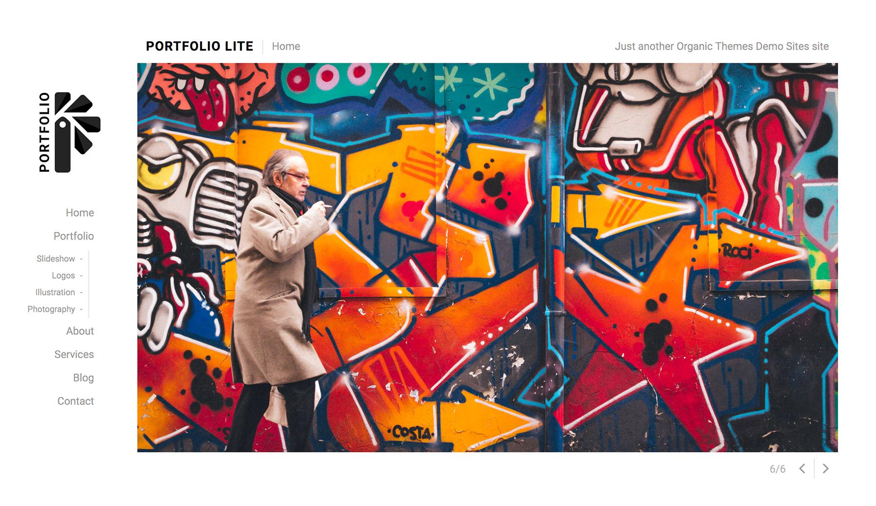 Free WordPress Portfolio Lite Theme - Organic Themes