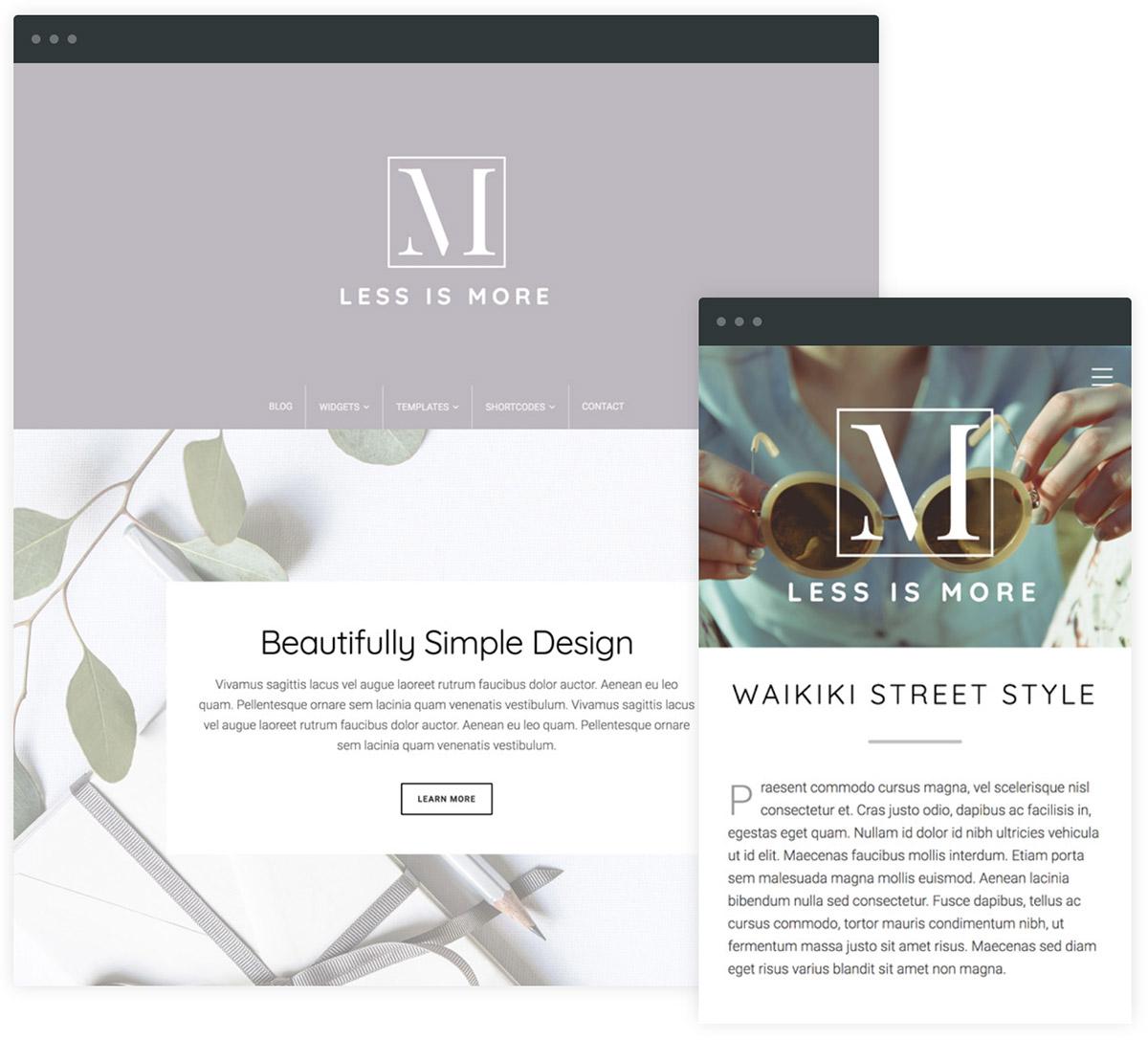 min theme a new minimal wordpress theme from organic themes