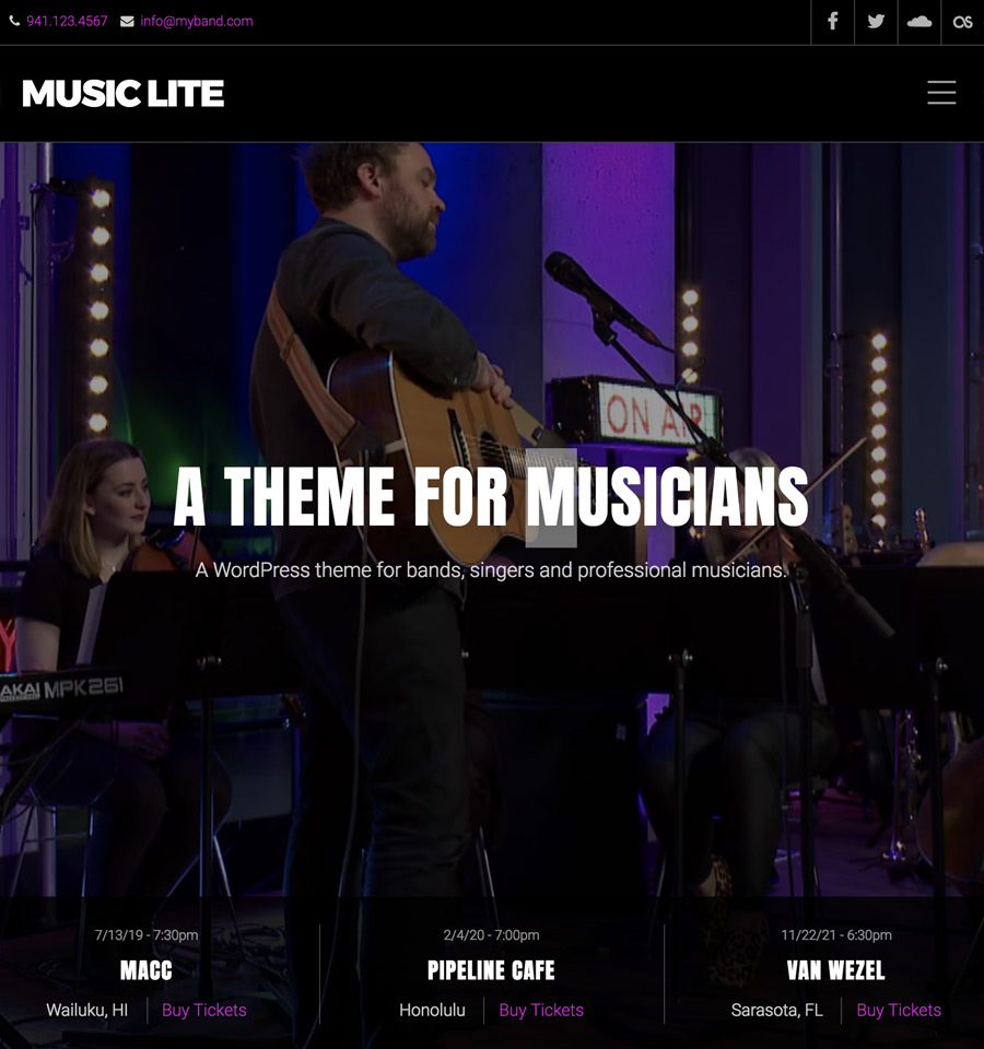 WordPress Music Lite Theme