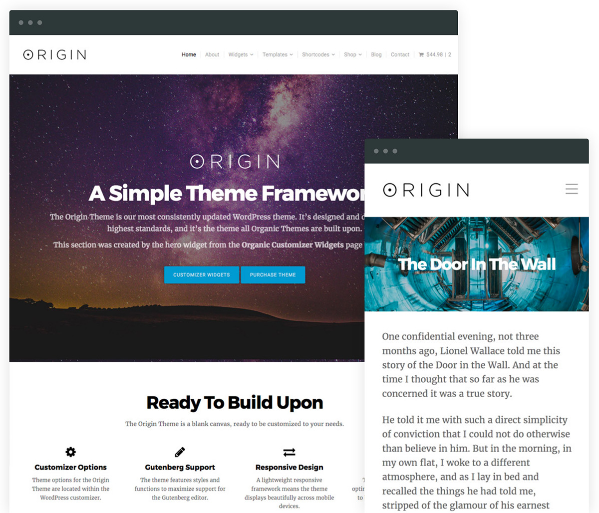 Origin WordPress Starter Theme