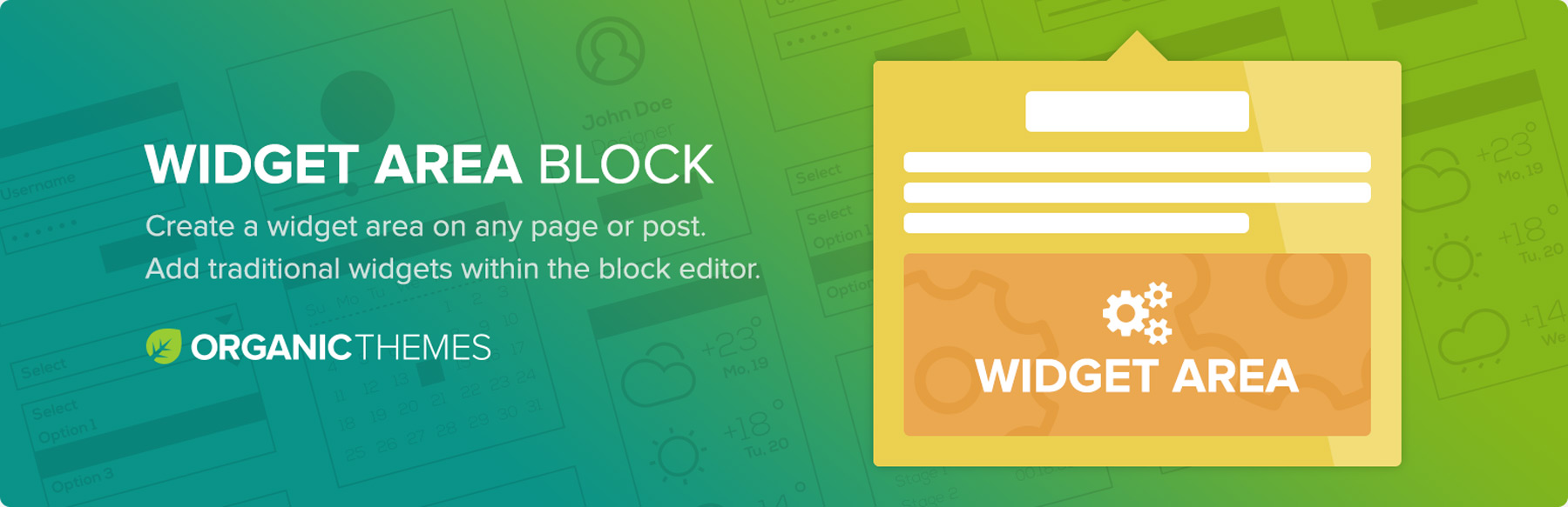 Wordpress Widget Area Block Plugin