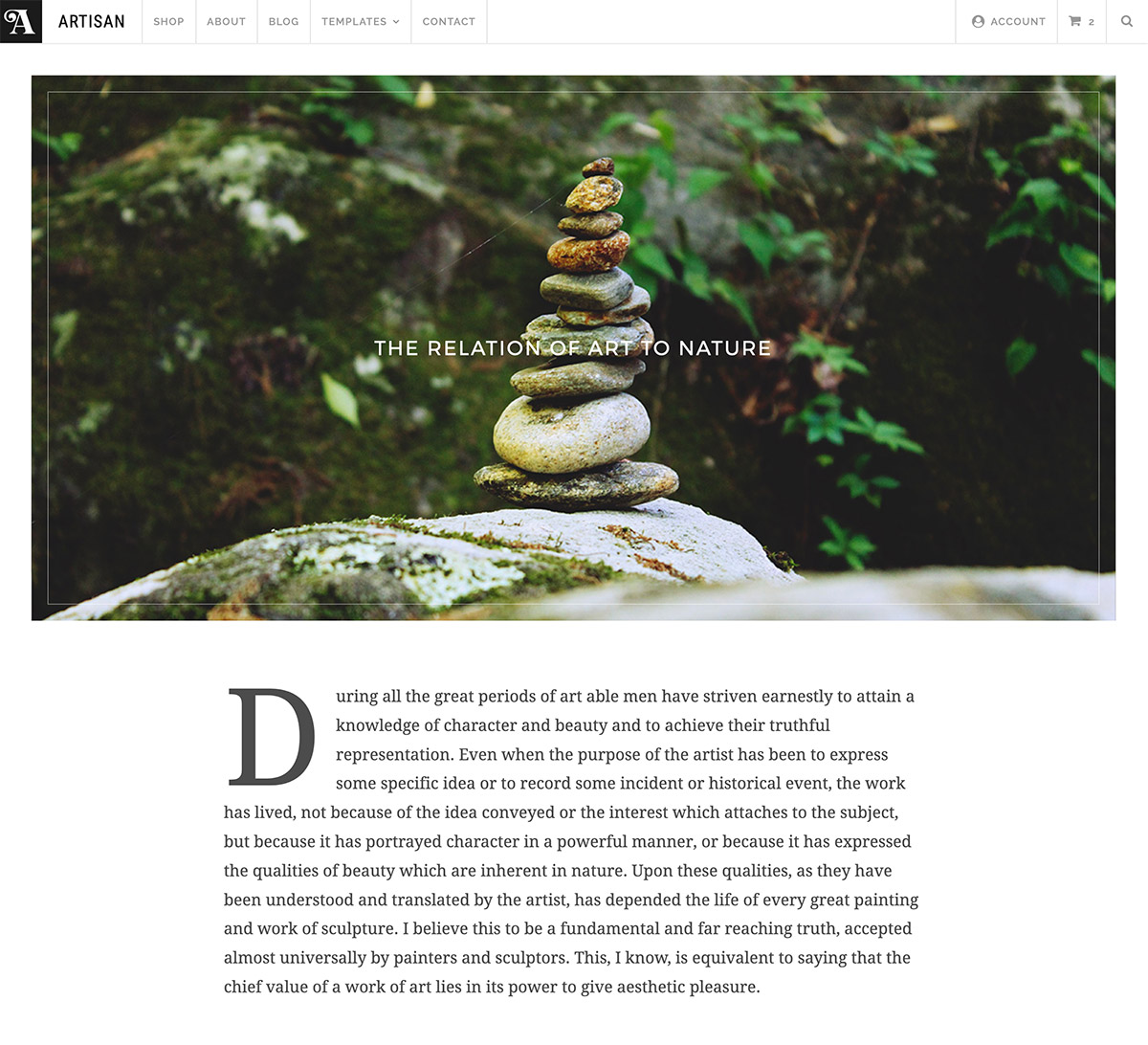 Artisan Post Page