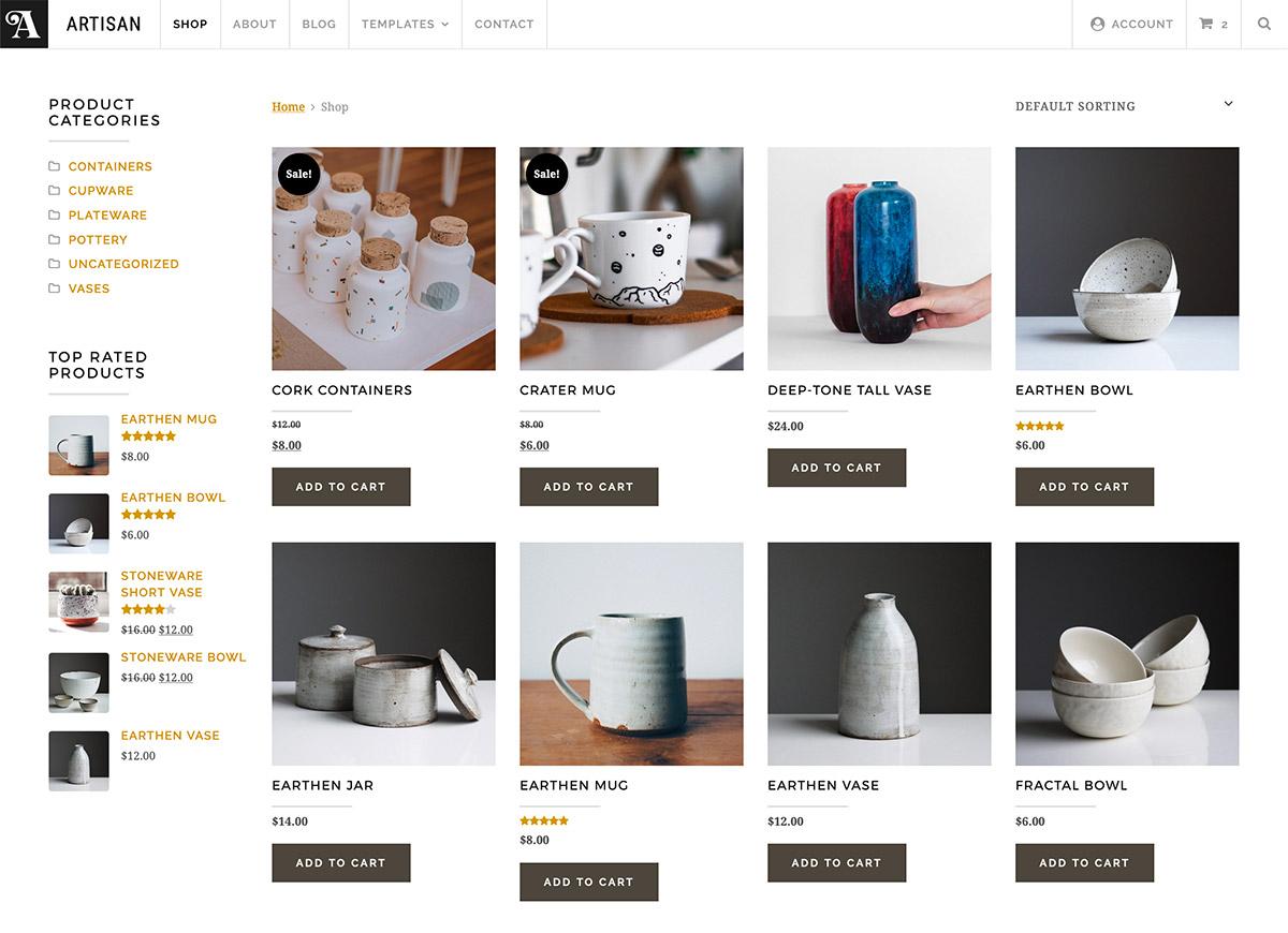 Artisan Shop Page