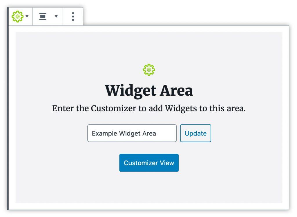 Gutenberg Widget Area Block