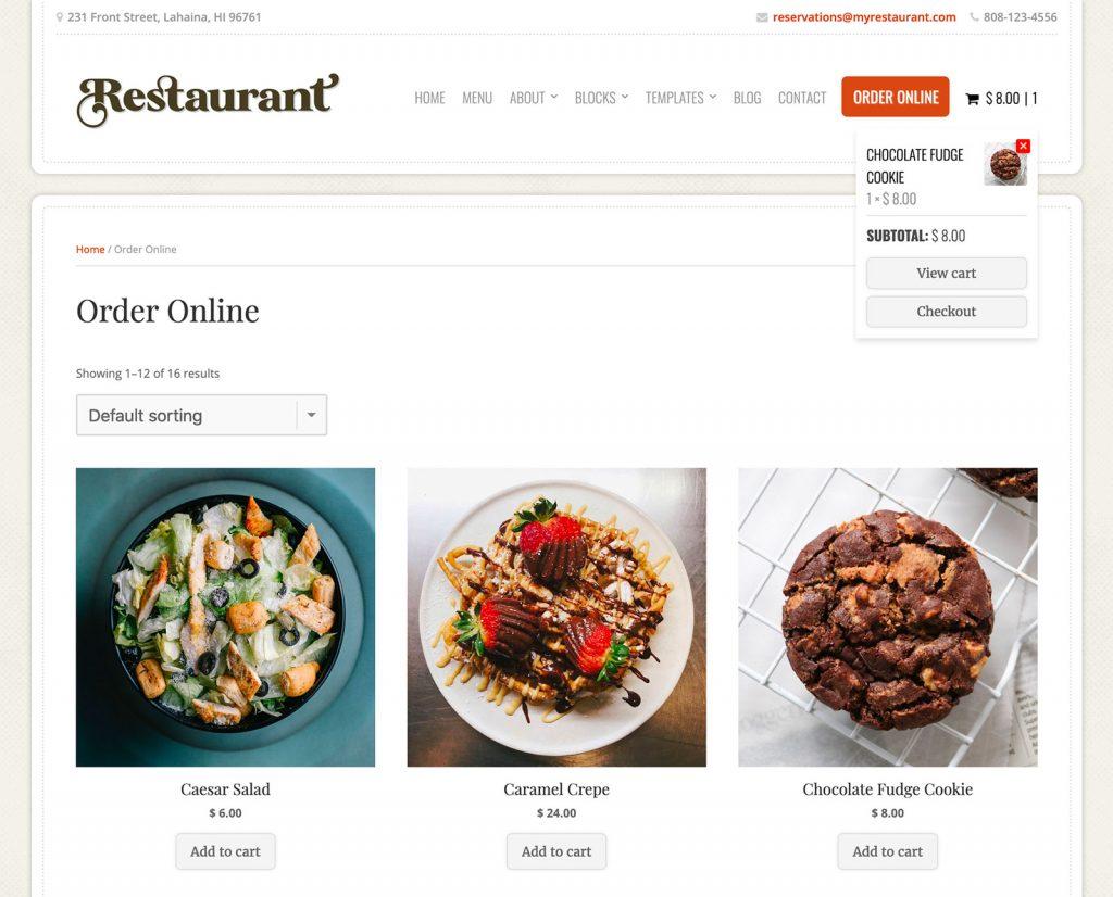 Restaurant Theme Order Online