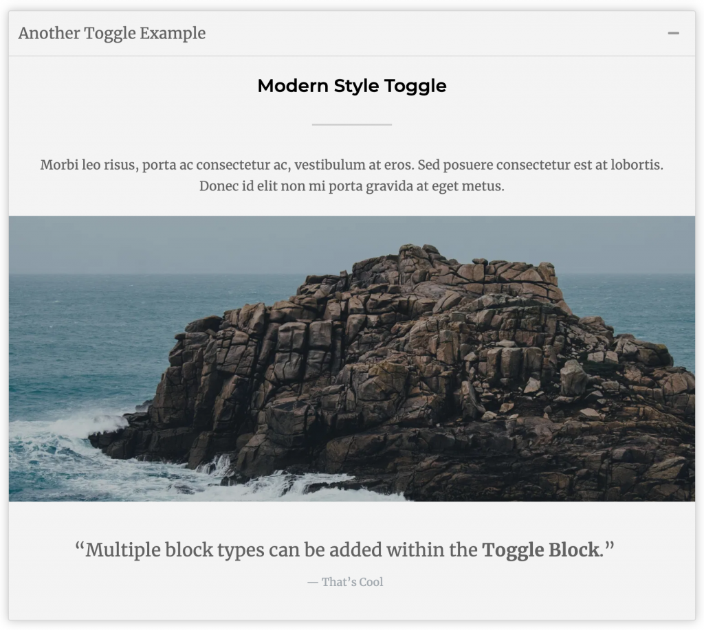 WordPress Toggle Block