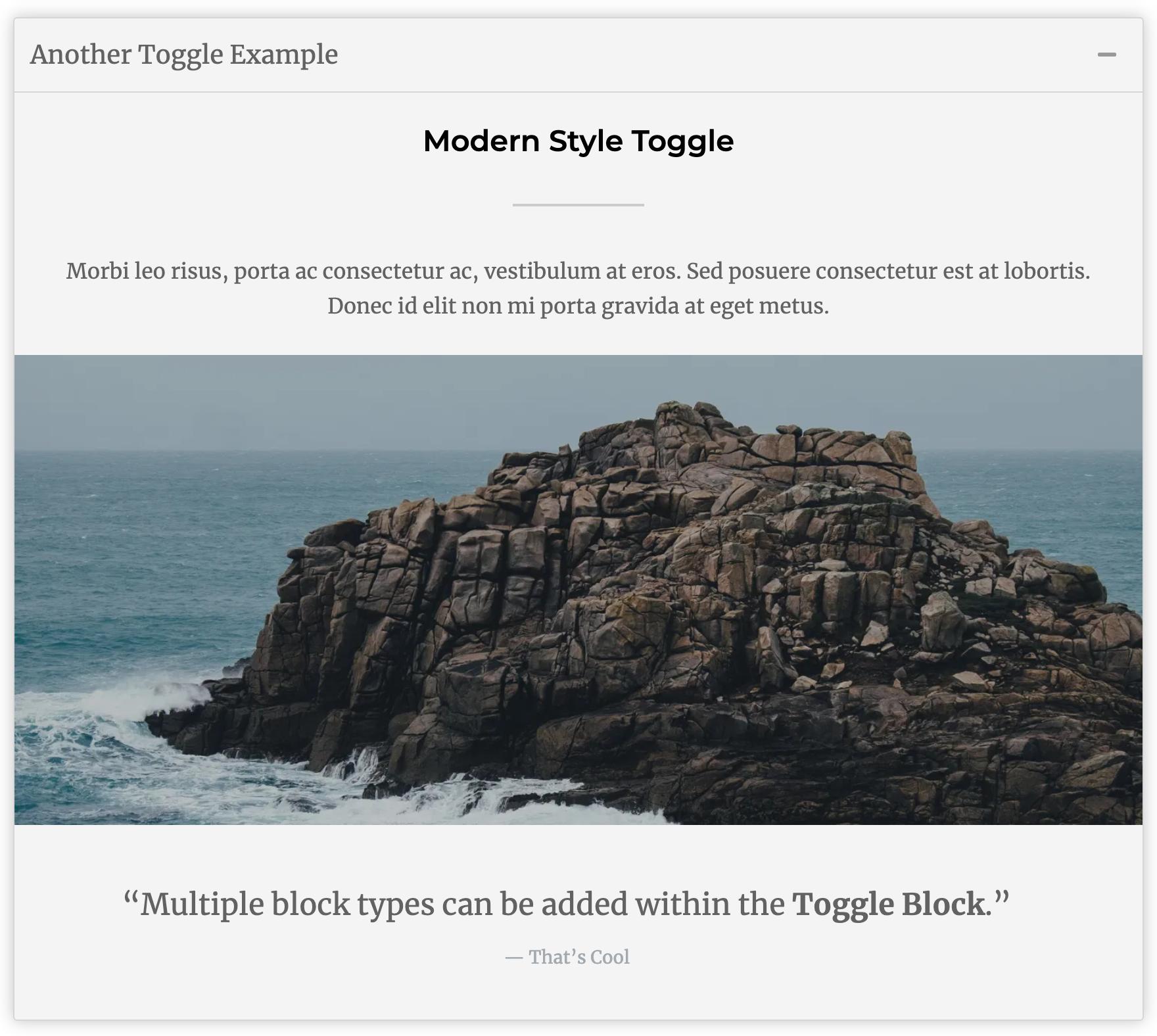 WordPress Toggle Block Example